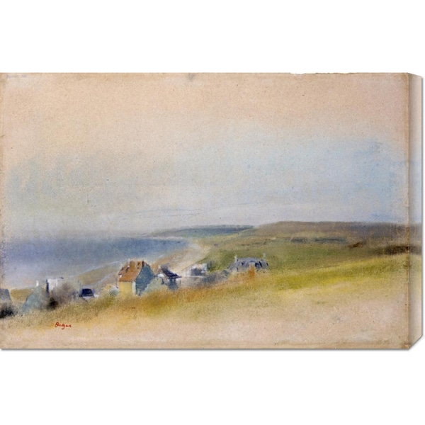 Edgar Degas 'Houses On The Cliff Edge at Villers-Sur-Mer' Stretched Canvas Art