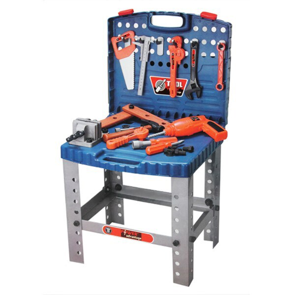 Power Advantage 60-Piece Portable Workbench Set with Working Drill