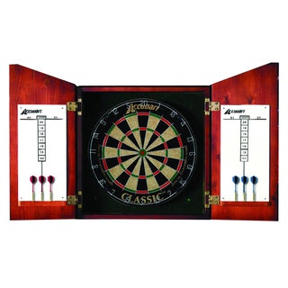 Accudart Union Jack Cabinet and Bristle Dartboard Set