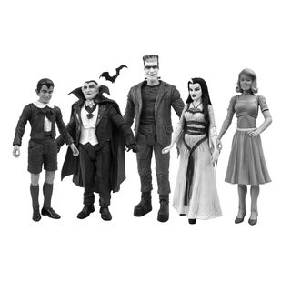Munsters Black and White Figure Set