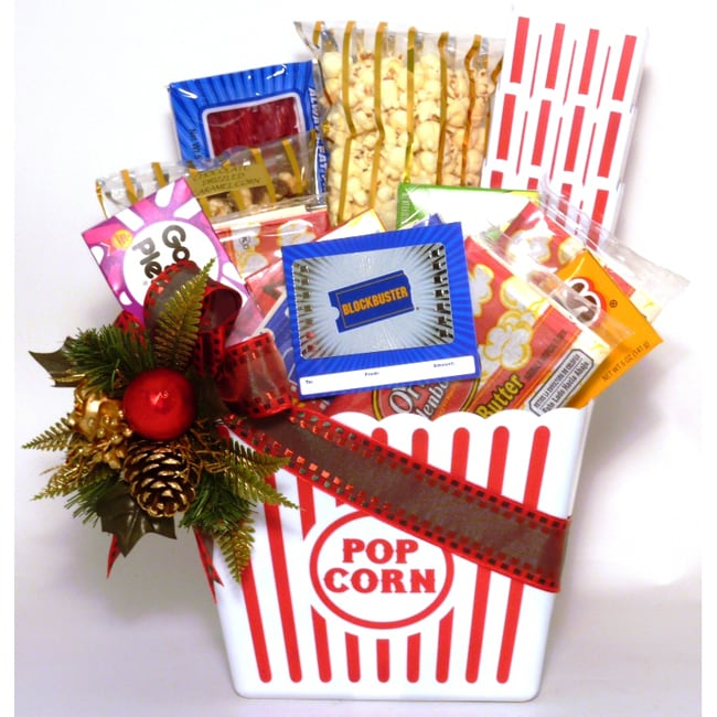 Buy holiday gift baskets with free shipping - Holiday Popcorn Sampler