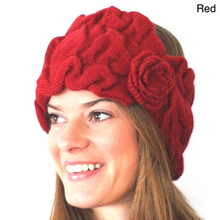 BrianneFaye Women's Stretchy Alpaca Wool Headband