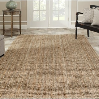 Hand-woven Weaves Natural-colored Fine Sisal Rug (10' x 14')