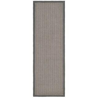 Safavieh Hand-woven Natural Fiber Uni Grey Fine Sisal Rug (2'6 x 16')