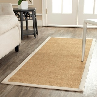 Safavieh Hand-woven Resorts Maize Beige/ Ivory Fine Sisal Rug