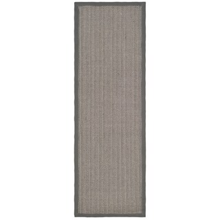 Safavieh Hand-woven Natural Fiber Uni Grey Fine Sisal Rug (2'6 x 10')