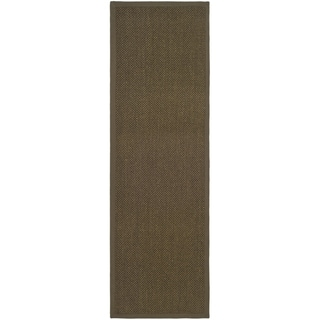 Hand-woven Resorts Brown Fine Sisal Runner (2'6 x 6')