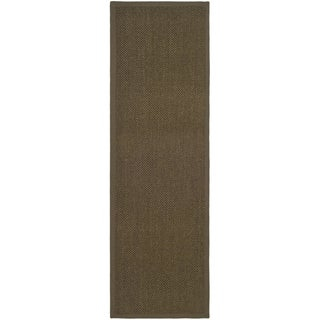 Hand-woven Resorts Brown Fine Sisal Runner (2'6 x 22')