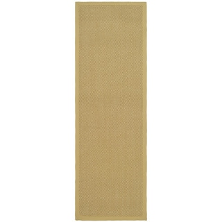 Hand-woven Resorts Natural/ Beige Fine Sisal Runner (2' 6 x 6')
