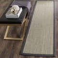 Hand-woven Resorts Natural/ Grey Fine Sisal Runner (2&#39; 6 x 16&#39;)