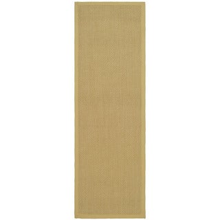 Hand-woven Resorts Natural/ Beige Fine Sisal Runner (2' 6  x 22')