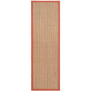 Dream Natural Fiber Rust Sisal Rug (2' 6 x 6')