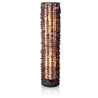 Jeffan Harold Decorative 2-light Rattan Fringe Floor Lamp