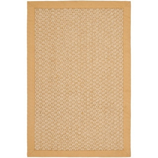 Chunky Basketweave Maize Beige Sisal Rug
