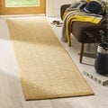Safavieh Chunky Basketweave Maize Beige Sisal Rug