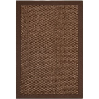 Safavieh Chunky Basketweave Chocolate Brown Sisal Rug