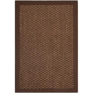 Chunky Basketweave Chocolate Brown Sisal Rug