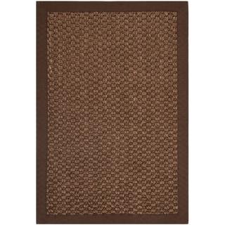 Chunky Basketweave Chocolate Brown Sisal Rug