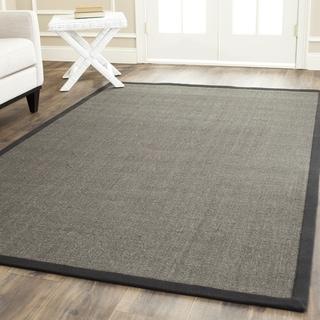 Safavieh Hand-woven Serenity Charcoal Grey Sisal Rug (8' Square)