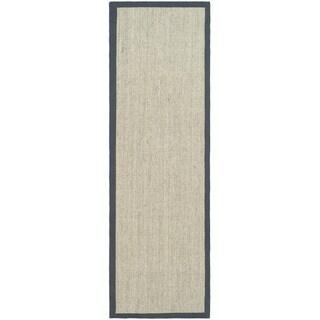 Safavieh Hand-woven Serenity Marble/ Grey Sisal Rug (2' 6 x 14')