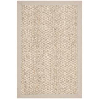 Safavieh Chunky Basketweave Marble Ivory/ Taupe Sisal Rug