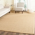 Chunky Basketweave Marble Ivory/ Taupe Sisal Rug
