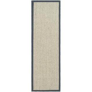 Safavieh Hand-woven Serenity Marble/ Grey Sisal Rug (2' 6 x 12')
