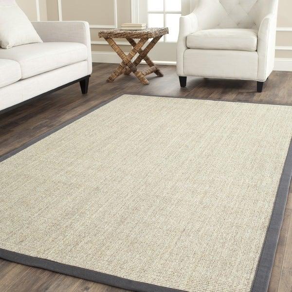 Safavieh Hand-woven Serenity Marble/ Grey Sisal Rug (6' Square)