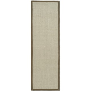 Hand-woven Resorts Maize Taupe/ Light Brown Fine Sisal Rug
