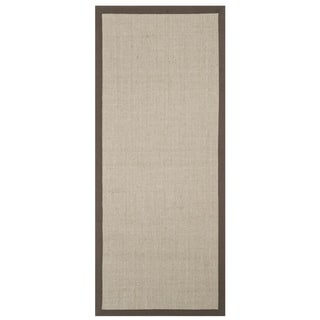 Safavieh Casual Natural Fiber Taupe and Light Brown Border Runner