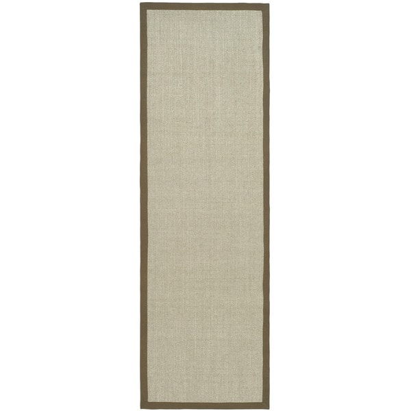 Safavieh Hand-woven Resorts Maize Taupe/ Light Brown Fine Sisal Rug