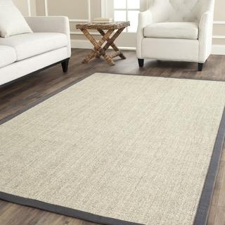 Safavieh Hand-woven Serenity Marble/ Grey Sisal Rug (8' Square)