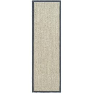 Hand-woven Serenity Marble/ Grey Sisal Rug (2' 6  x 6')
