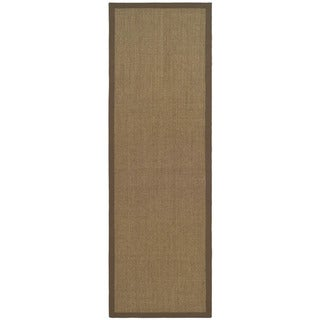 Hand-woven Resorts Maize Brown Fine Sisal Rug