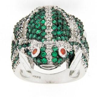 Meredith Leigh Sterling Silver Tsavorite Frog Ring