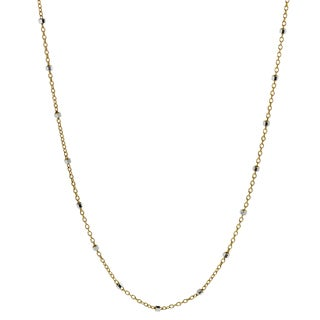 Journee Collection Sterling Silver Gold-plated Rolo Chain