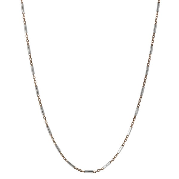 Journee Collection Sterling Silver Rose Gold-plated Rolo Chain
