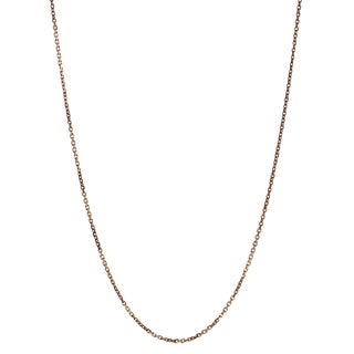 Tressa Collection Sterling Silver Rose Gold-plated Flat Cable Chain