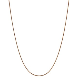Tressa Collection Sterling Silver Rose Gold-plated Snake Chain