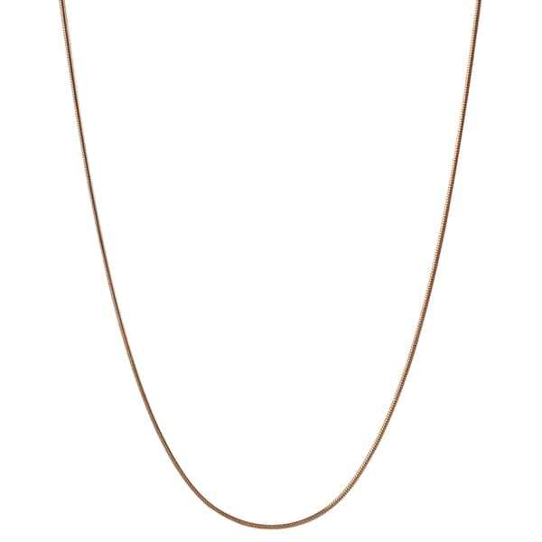 Journee Collection Sterling Silver Rose Gold-plated Snake Chain