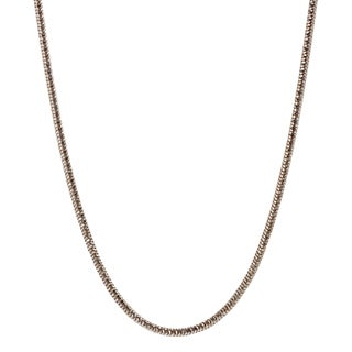 Journee Collection Sterling Silver Rose Goldplated 1.7mm Snake Chain Necklace