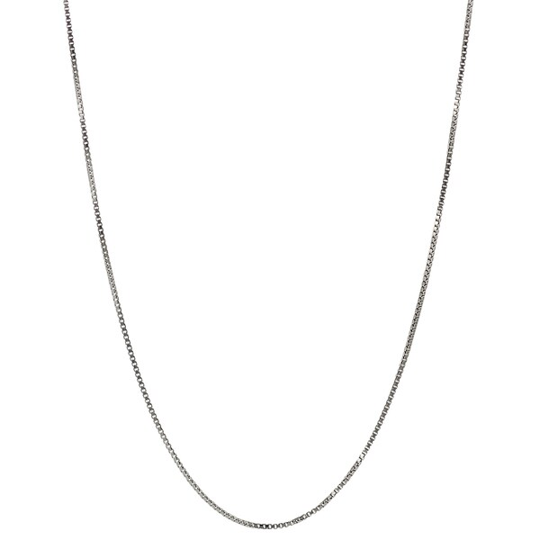 Journee Collection Sterling Silver Rhodium Box Chain