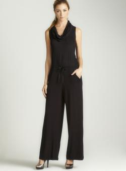 Max Studio Sleeveless Cowl Neck Jumpsuit