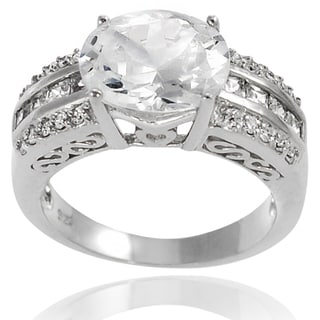 Journee Collection Sterling Silver Oval Cubic Zirconia Bridal-style Ring