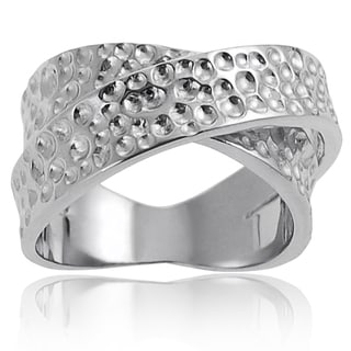 Tressa Sterling Silver Textured Twist Ring