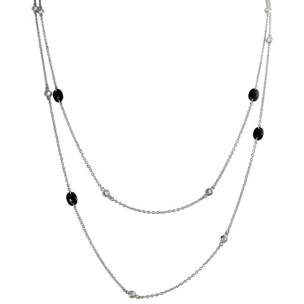Journee Sterling Silver Cubic Zirconia 60-inch Vintage Necklace