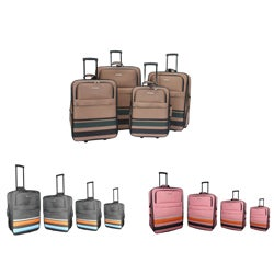 Hercules Rainbow Heavy Duty 4-piece Luggage Set