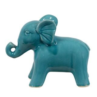 Turquoise Ceramic Elephant