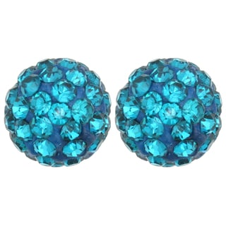 Kate Marie Colored Rhinestone Ball Fashion Earrings