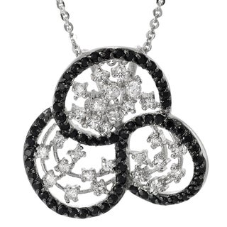 Tressa Sterling Silver Black and White Cubic Zirconia Vintage Necklace